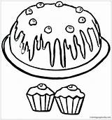 Muffin Blueberry Coloring Clipart Drawing Clipartmag sketch template