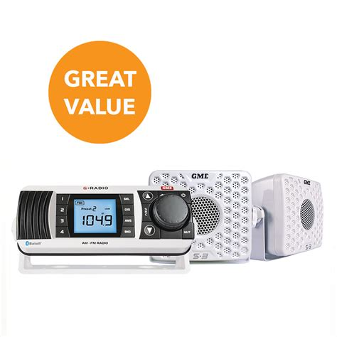 Stock quote data powered by ticker. GME GR300BTWEP AM/FM Marine Radio Pack - White | Boat ...