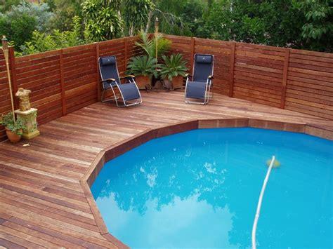 pool decking above ground pool deck plans kwila deck built ontop of an above ground pool w a kwila slat