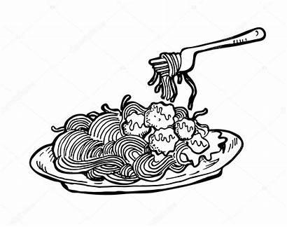 Drawing Cheese Mac Macaroni Line Spaghetti Clipartmag