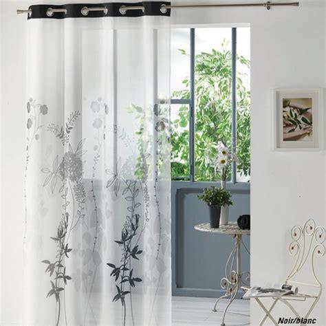 rideaux panneaux voile 140x240cm loria gris noir
