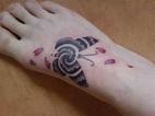cross maori sleeve tattoo chicano tattoo font wings ...