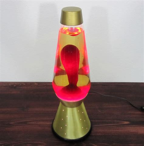 White Cylinder Lamp by Vintage 1960s Lava Lamp With Gold Starlight Base Retro