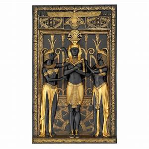 ancient egypt egyptian decor king pharaoh wall sculpture With egyptian wall art