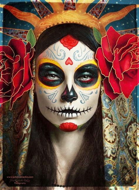cool  de los muertos sugar skull makeup art examples