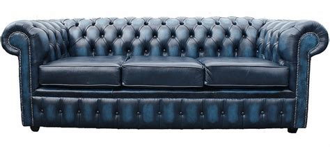 blue chesterfield leather sofa chesterfield 3 seater antique blue leather sofa offer
