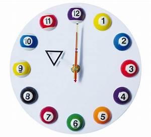 Horloge Murale Blanche : horloge murale blanche 20cm d coration billes billard ~ Teatrodelosmanantiales.com Idées de Décoration