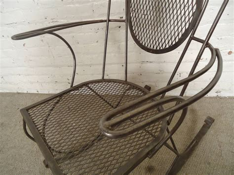 all metal rocking chair image 4