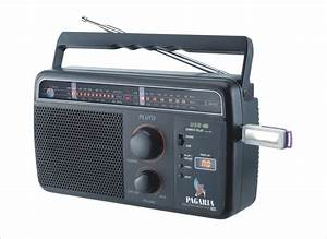 Pagaria 5 Band  Usb Support  Rechargeable Battery Fm Radio
