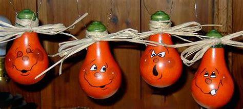 Pumpkin Light Bulbs Painting By Darlene Prowell