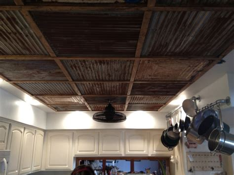 tin ceiling steel and wood ceiling posted in walls