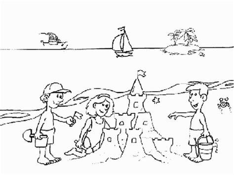 disegni di bambini che giocano al mare i disegni dell estate