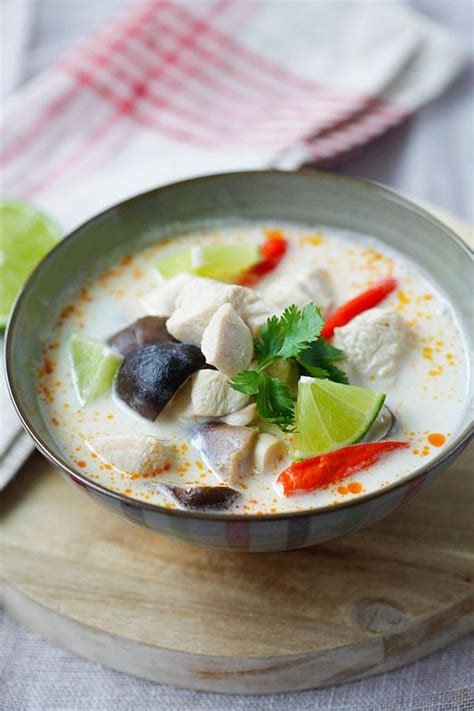 tom kha suppe tom kha gai easy delicious recipes