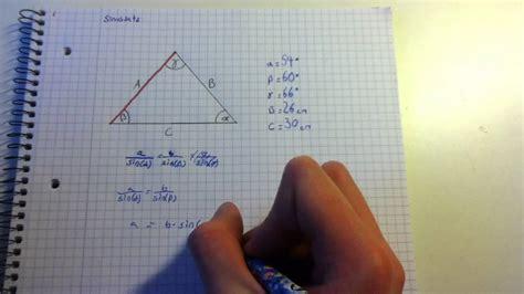 der sinussatz bei einem nicht rechtwinkligen dreieck