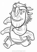 Trollhunters Blinky Troll Bular Xcolorings sketch template