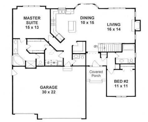 ranch open floor plans plan 1387 2 bedroom quot open floor plan quot ranch w walk in pantry and 3 car garage