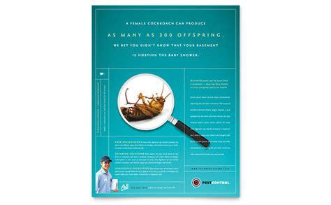 pest control services flyer template design