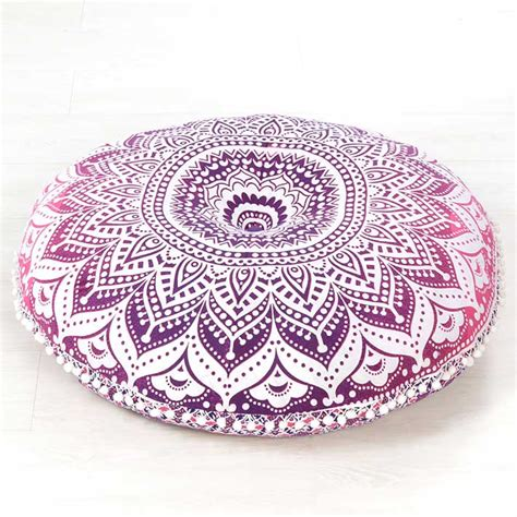 Bohemian Floor Pillows by Pink Mandala Bohemian Hippie Floor Pillow Cushion Cover