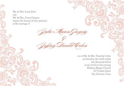 Fancy Blank Invitation Templates