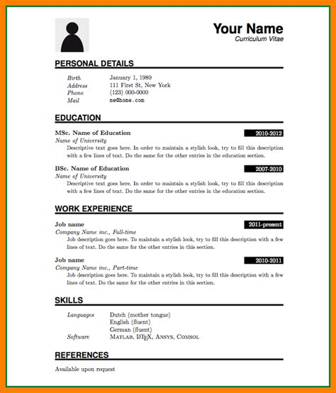cv format ms word file theorynpractice
