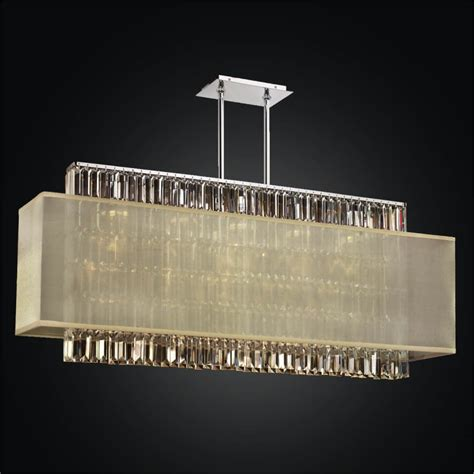 rectangular shade pendant chandelier with rectangular