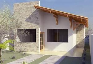 Plano de casa económica de dos dormitorios Construye Hogar