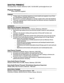 physical therapy resume objective resume sle for a physical therapist susan ireland resumes