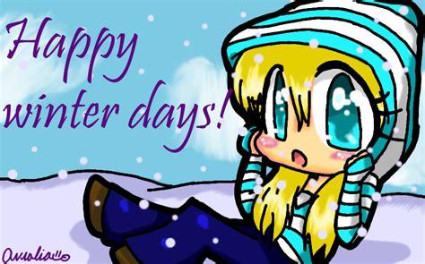 anime winter days happy winter days by pikausul on deviantart