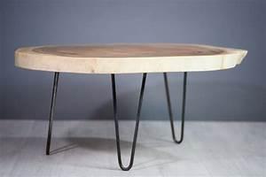 Table Basse Bois Metal : meuble salon table basse en bois de suar pi tement m tal ~ Teatrodelosmanantiales.com Idées de Décoration