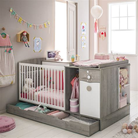 chambre bebe autour de bebe lit compact évolutif combiné gaia bébé lune de bébé lune