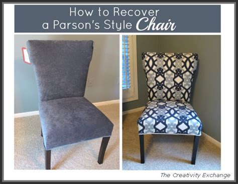 how to recover a parsons style chair hometalk