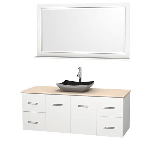 60 Inch Bathroom Vanity Single Sink Black by Wyndham Collection Wcvw00960swhivgs1m58 Centra 60 Inch