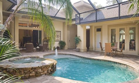 house with courtyard design a bedroom pool house plans with courtyard