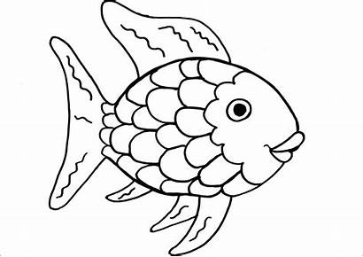 Fish Coloring Pages Printable Rainbow Fishing Fishes