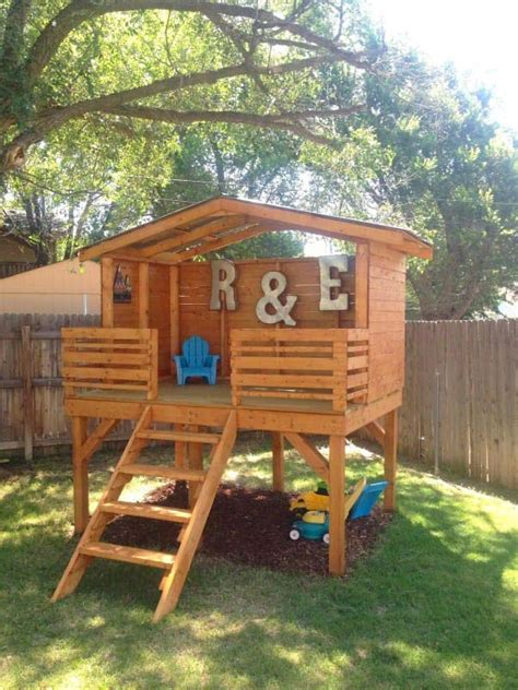 Diy Backyard Forts - 16 creative wooden playhouses designs for your yard