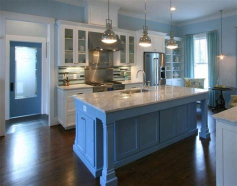 blue kitchen floor 40 bright bold and blue colorful kitchens kitchen color 1734
