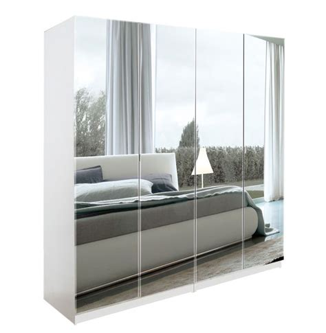 Mirrored Wardrobe With Drawers by Alta 4 Door Wardrobe Closet Basic Package Free Standing