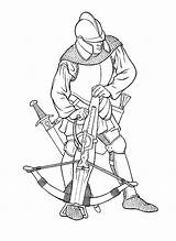 Coloring Warrior Crossbow Pages Boys sketch template