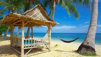 Screensavers Beach Tropical Wallpapers Hut Refresh