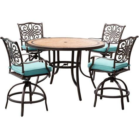 hanover monaco 5 outdoor bar height dining set with