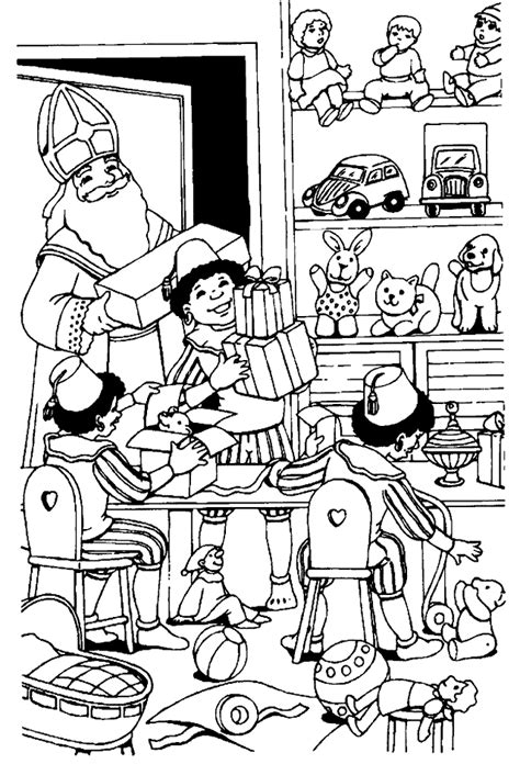 Kleurplaat Sinterklaas Grappig by Kleurplaat Sinterklaas Leuke Sint Kleurplaten Printen