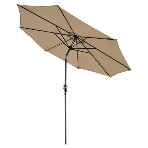 9 Ft Patio Umbrella With Crank by 9 Ft Aluminum Outdoor Patio Umbrella Market Yard W
