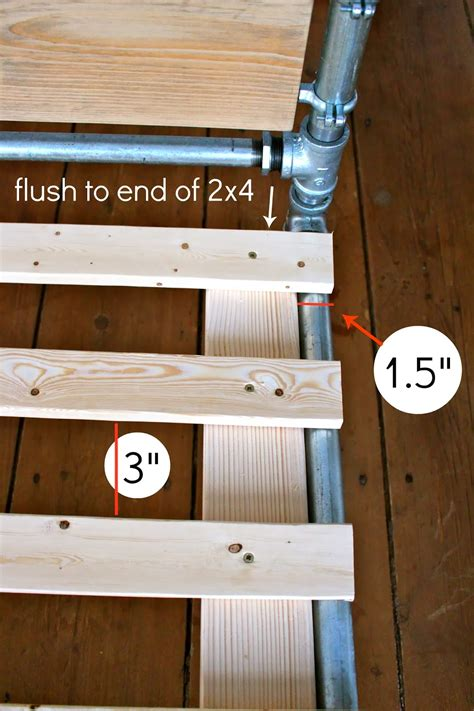 how to build a pipe l diy pipe wood slats bed jaime costiglio