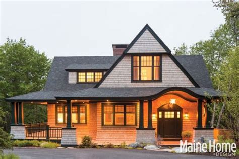 shingle style roots maine home design