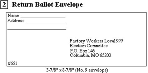 how to address an envelope with a po box u s department of labor office of labor management