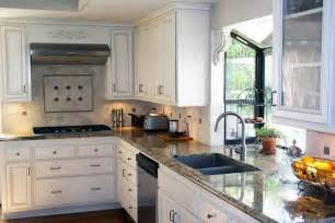 best small kitchen design with bay window over undermount