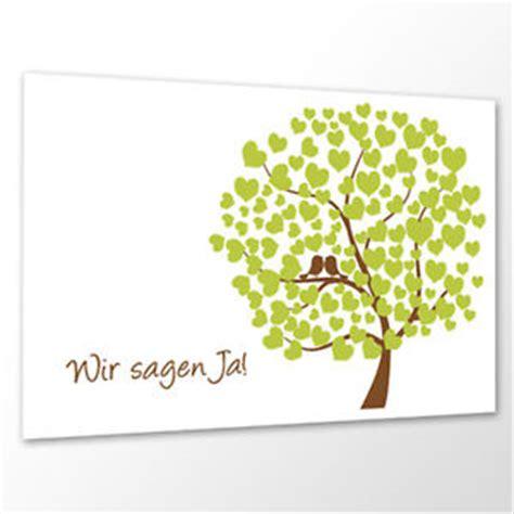 10x Save the Date Karte 'Bird Tree' Hochzeit