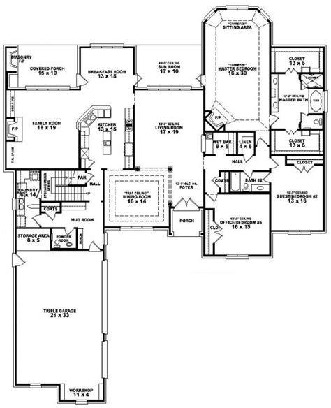 5 bedroom floor plan 654275 3 bedroom 3 5 bath house plan house plans