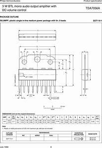 Philips Tda7056a Users Manual 3 W Btl Mono Audio Output