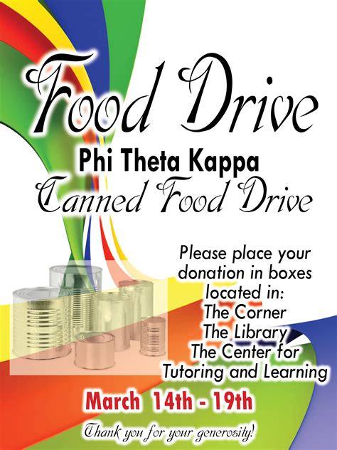 ewc phi theta kappa hold canned food drive eastern wyoming